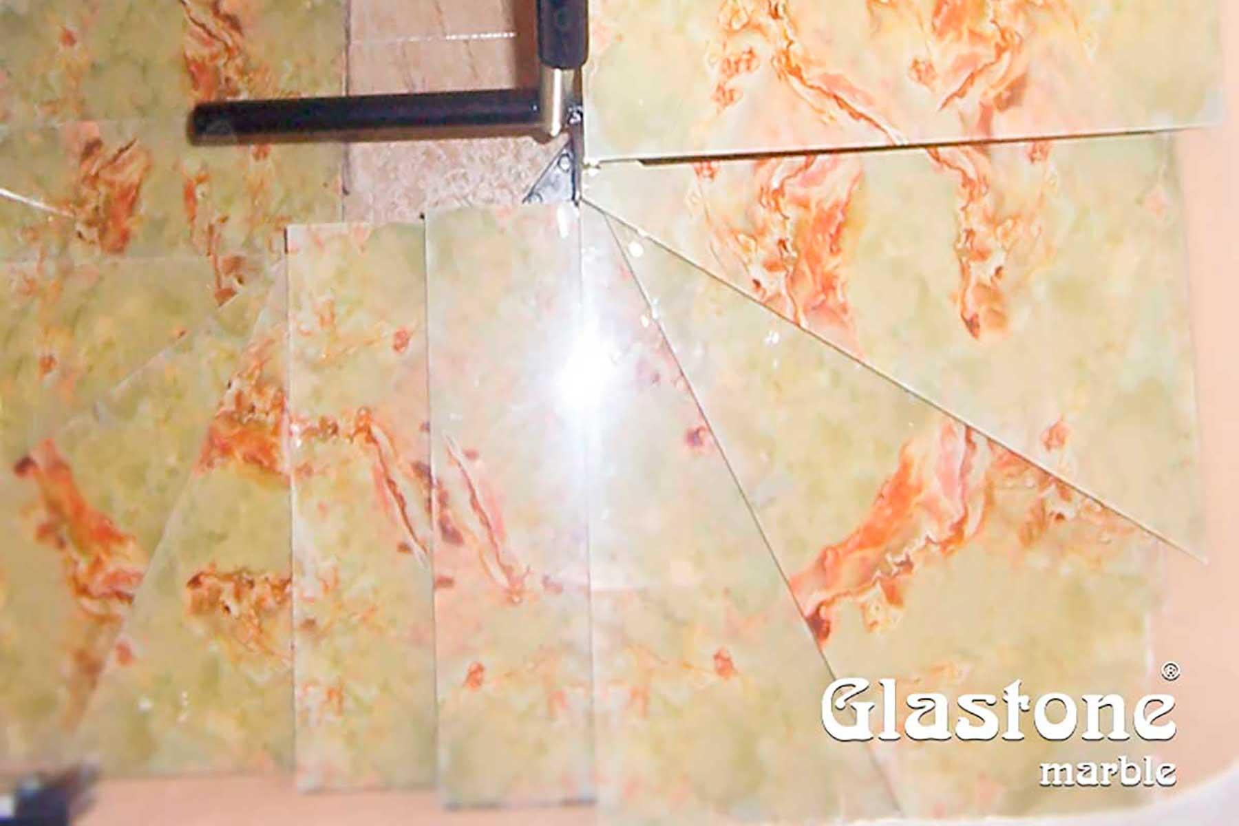 glastone marble marmol vidrio escaleras